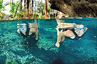 Cozumel Snorkeling at a Cenote