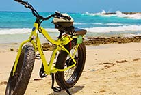 Electric Beach Bike Tour Cozumel