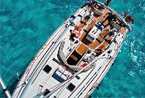 Cozumel Luxury Sailboat Aerial View