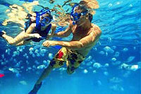 Snorkeling at Xel Ha Mexico