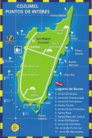 Mapa - Cozumel